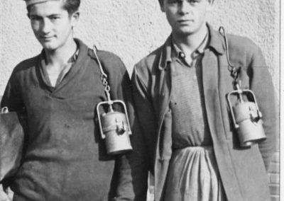Rožňava - banícki učni na praxi v 50-tych rokoch