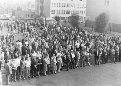 Bányász nap Rozsnyó bányán, 80-as évek