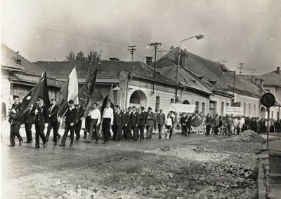 Rozsnyó, Bányász nap 1973, ünnepélyes felvonulás