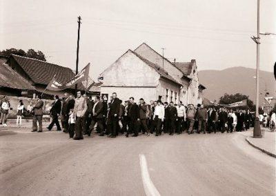 Rozsnyó - Bányászok napja, ünnepélyes felvonulás